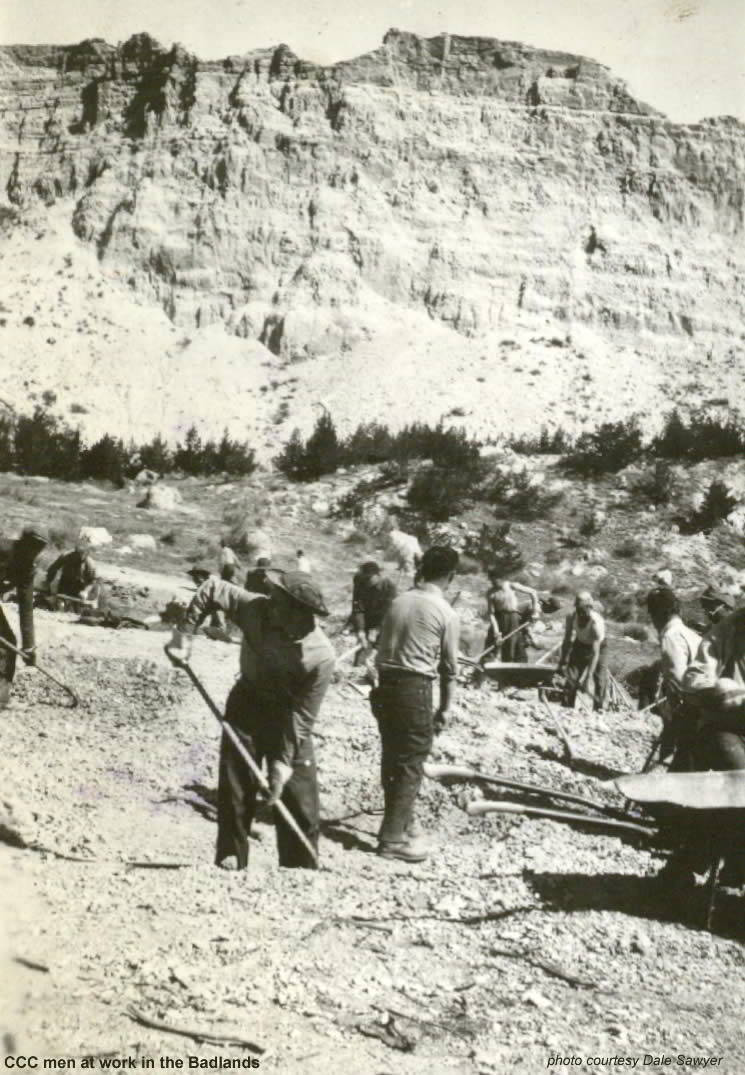 CCC Men at work in the Badlands