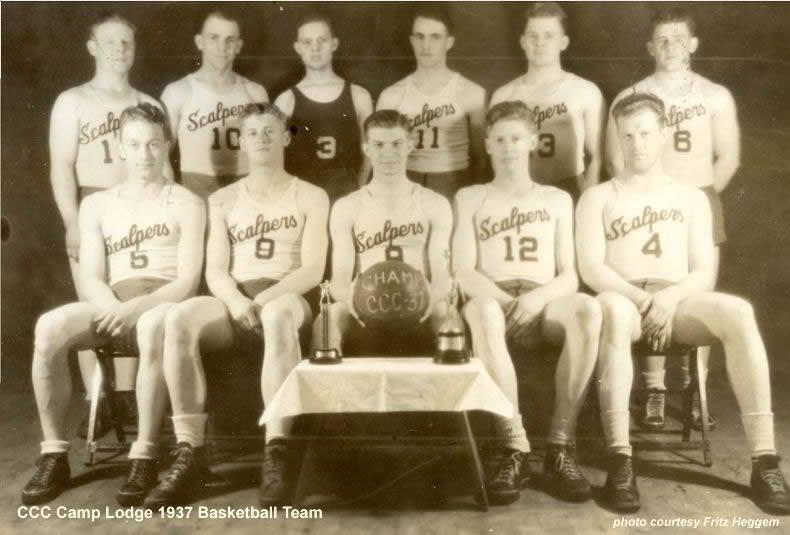 CCC Camp Lodge 1937 Basketball Team