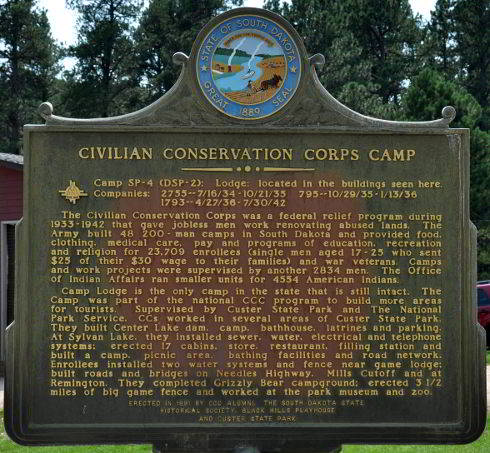 CCC Camp Lodge waypoint marker