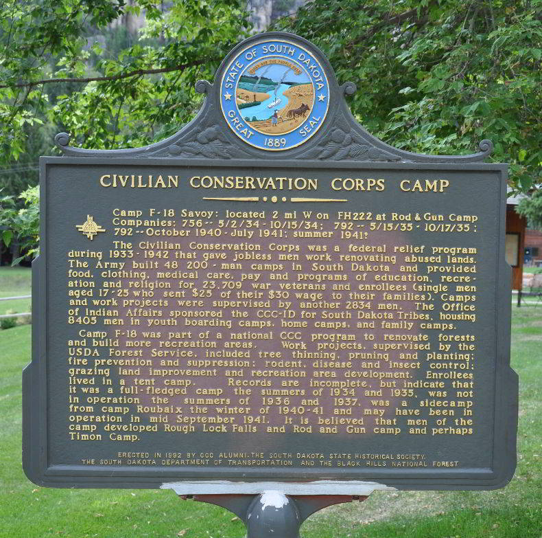 CCC Camp Savoy Sign