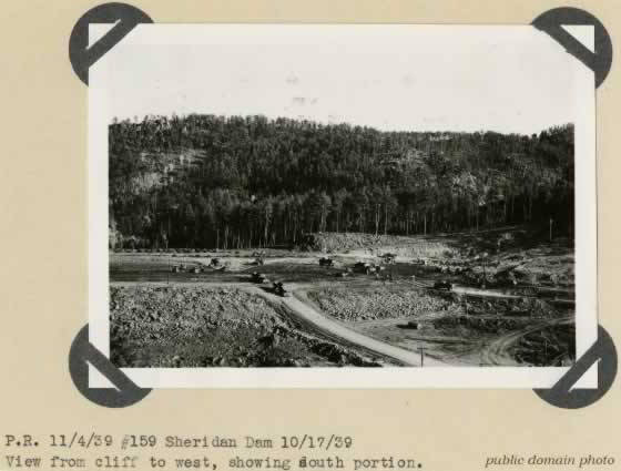 CCC Sheridan Dam Construction