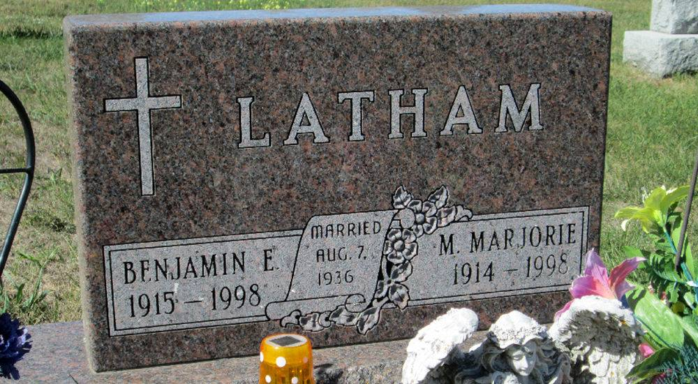 Latham Cemetary Marker