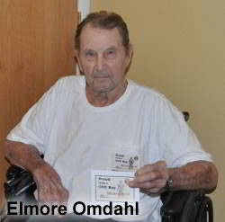 Elmore Omdahl Receives Recognition - Age 100