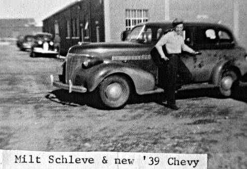 Milt Schleve with new Chevy