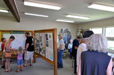 Visitors to the CCC Museum