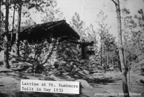 CCC built latrine at Mount Rushmore