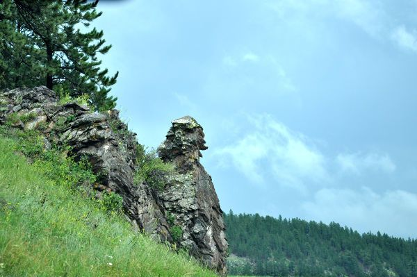man's profile – rock formation