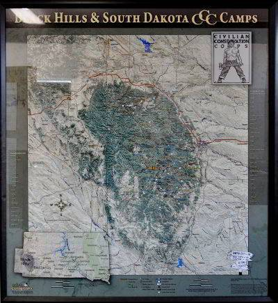 CCC Map of South Dakota
