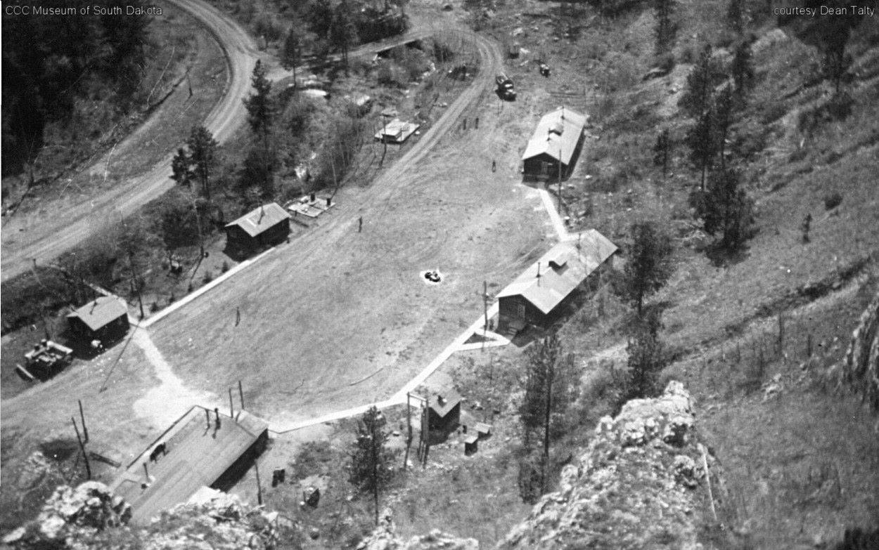 Overhead View of Camp